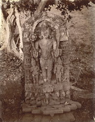 Statue of Aditya, near the temple, Dulmi, Manbhum District